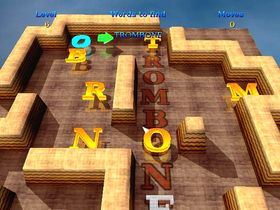 Screenshot of 3D Word Slider